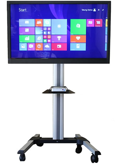 Touch screen for collaborative learning and presentations.